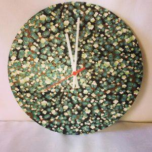 30 cm diameter clock handmade with hand printed Japanese Chi...