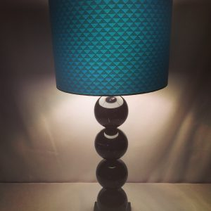 30 cm drum lampshade made from Japanese lacquered yuzen pape...