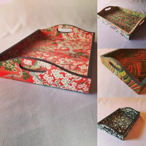 A change from lampshades! Here are some trays I've made usin...