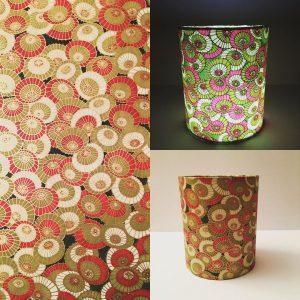 A little lantern 12 cm high x 10 cm diameter made from hand ...