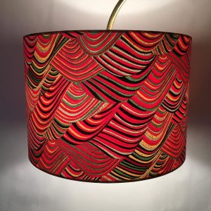 A simple shape for a busy design, this 30 cm drum lampshade ...