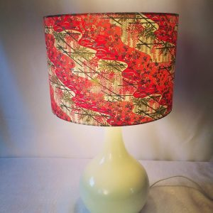 Back in stock! 30 cm drum lampshade made from hand printed J...
