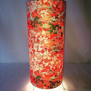 Chiyogami Japanese hand printed paper floor or table lamp. 3...