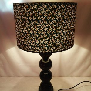 Chiyogami Japanese hand printed paper lampshade. Beautiful t...
