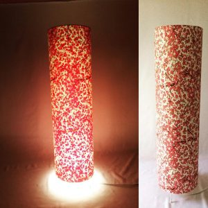 Floorlamp made with Japanese hand printed Chiyogami paper. 7...