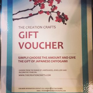Gift vouchers now available for Japanese Chiyogami paper lam...