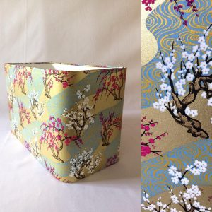 Gorgeous and new... rectangular lampshades! Made with hand p...