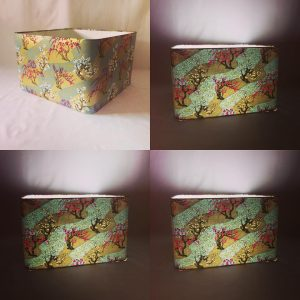 It's a big one! 40 cm rounded square lampshade made with han...
