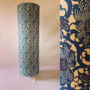 Japanese Chiyogami paper lamp 65 cm high x 20 cm wide See mo...