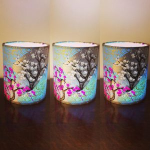 Little lanterns 10 cm high with a battery operated LED tea l...