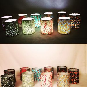 The Creation Crafts little lanterns made with hand printed J...
